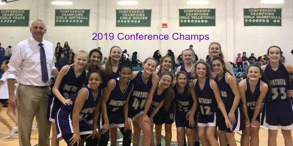 NGMS Girls Basketball 2019 Conference Champs