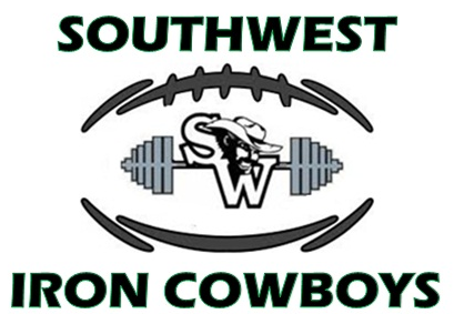 southwest logo with football and barbells
