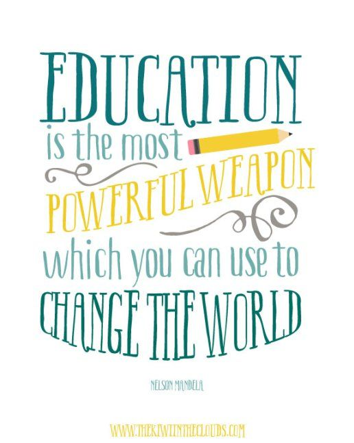 Education quote for Early Childhood class