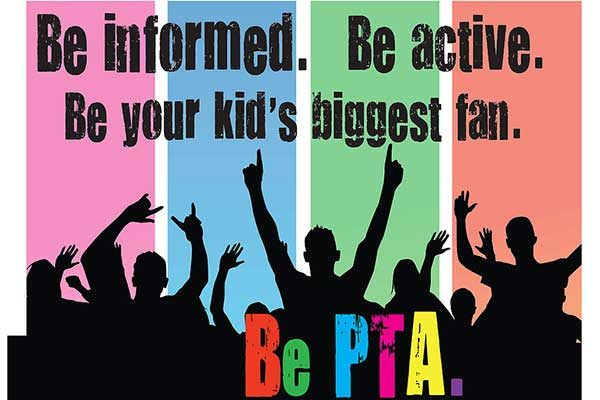 Graphic states be informed, be active, be your kids biggest fan