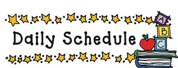 Image result for our daily schedule clipart