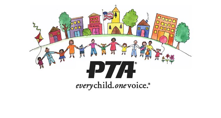Picture of children and parents with PTA