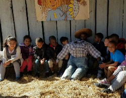 Having fun at Mr. B's Pumpkin Patch - our first field trip