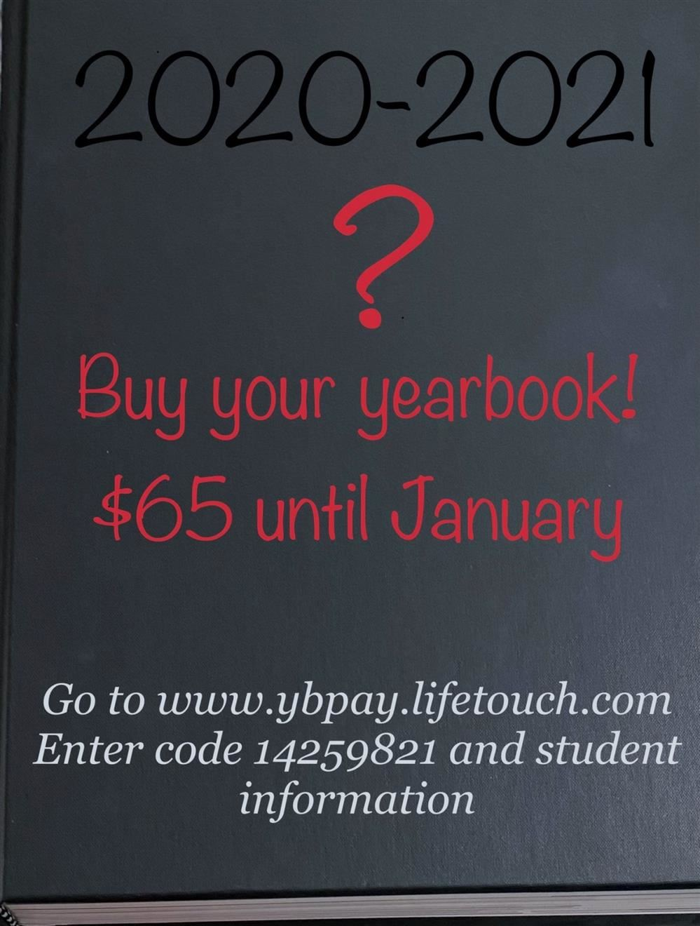 Yearbook with 20-21 buy through January