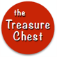 "Orange circle with ""the treasure chest"" inside"