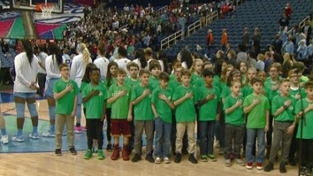 Pearce 5th Graders Sing the National Anthem at Women's ACC Tournament