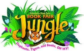 book fair sign with jungle theme