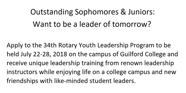 34th Rotary Youth Leadership Program