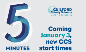 5 minutes Coming January 3, new GCS start times