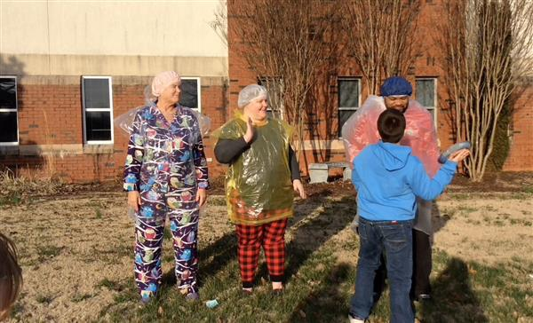 Student hits staff with pie at Reedy Fork Elementary