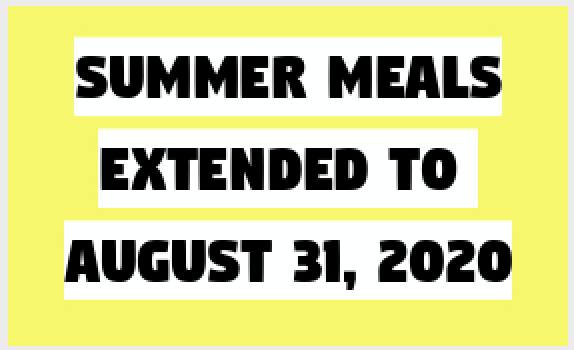 Summer Meals Extended