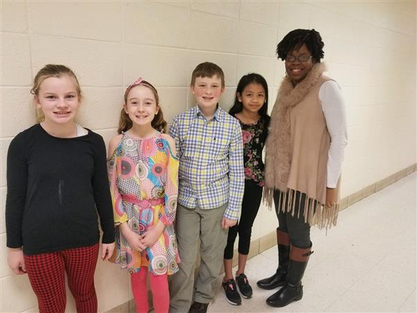 Student council board members with Mrs. Gibson