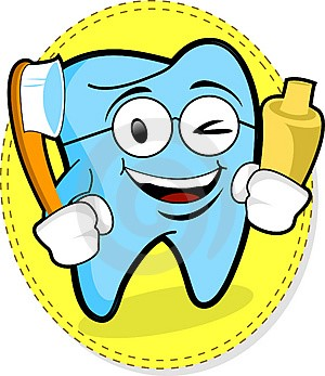 cartoon smiling tooth