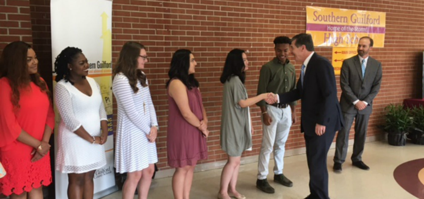 Southern guilford high school homepage governor cooper visits southern high school fandeluxe Image collections